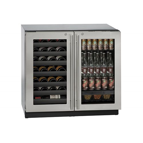 U Line 36 Stainless Steel Wine And Beverage Center With Locking Door Beverage Center Beverage Refrigerator Wine Rack