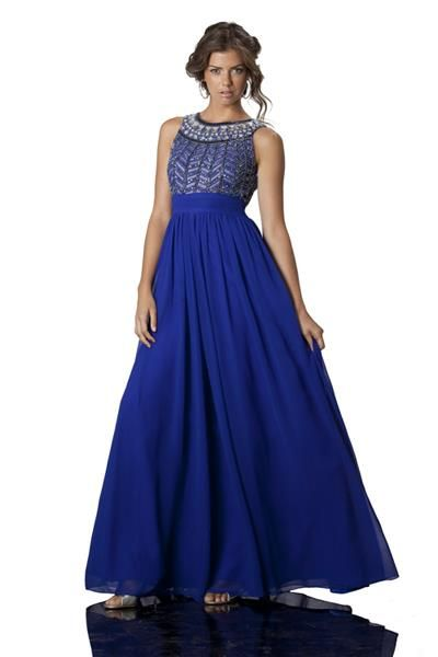 e2c311efd1 Stunning cobalt blue gown with silver beading ~ mirellas.ca ...
