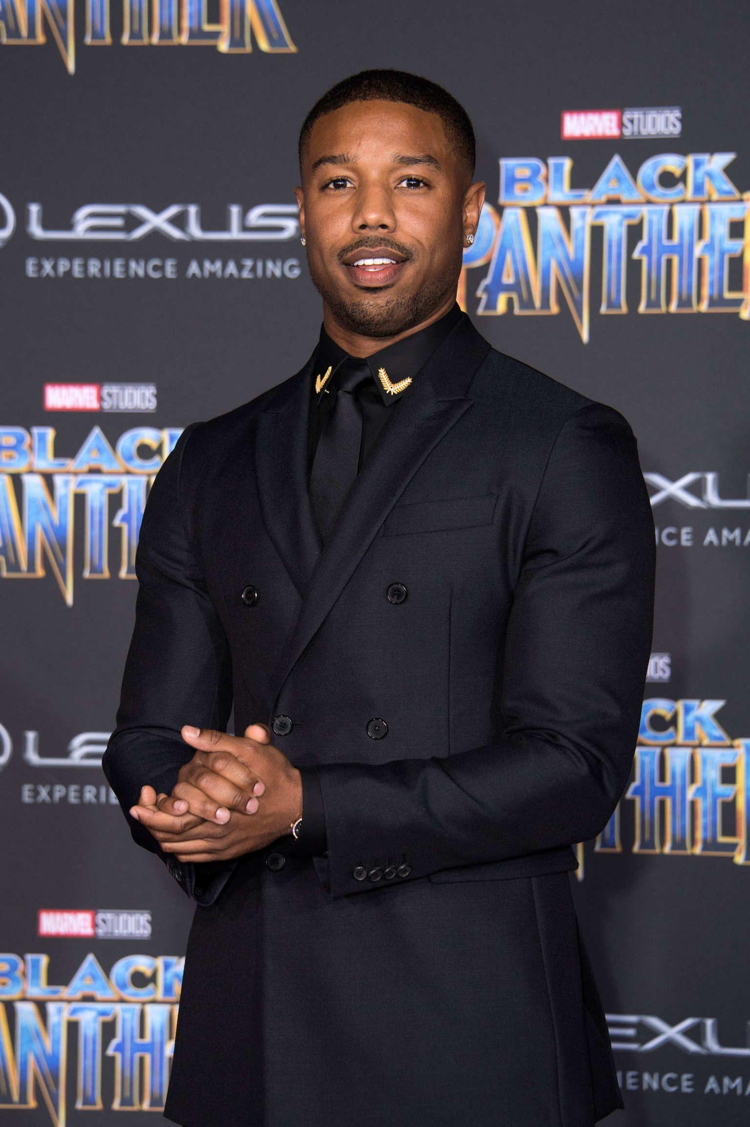 6a3c1cd0fc8 Michael B. Jordan at Black Panther premiere #MichaelBJordan #BlackPanther
