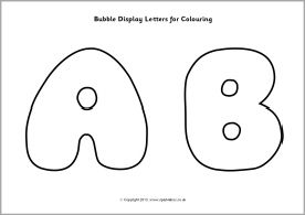 Bubble display letters for colouring (SB9745) - SparkleBox