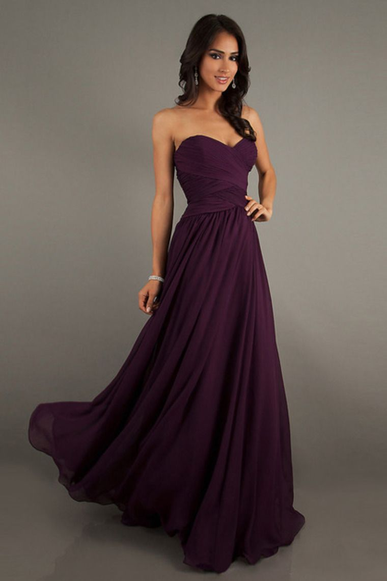 Cheap a line sweetheart floor length chiffon prom dresses ruffles