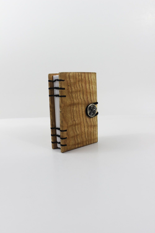 oak wood covered notebook handbound journal instant photo album
