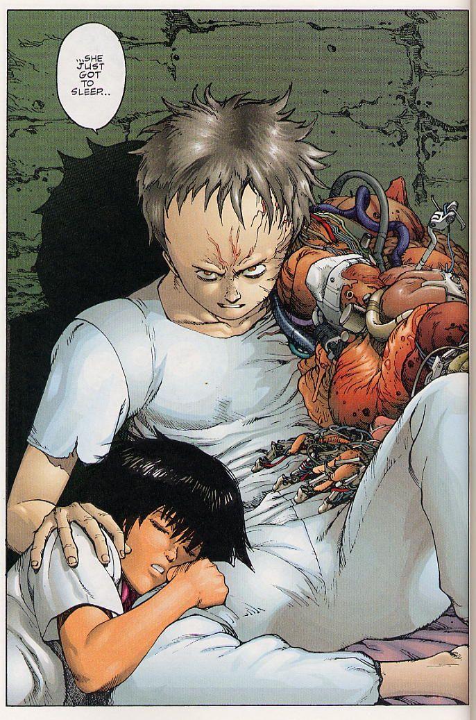 Kaori and Tetsuo Akira anime, Akira manga