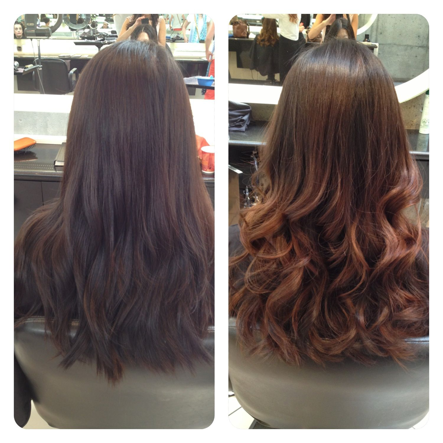 Straight perm and dying hair - Ombre Asian Hair Before And After