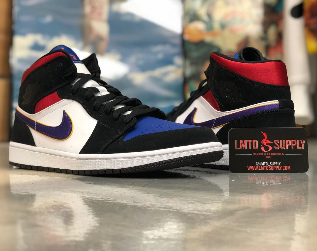 Air Jordan 1 Low Lakers Top 3 Cj9216 051 Black Red Blue In 2020 Air Jordans Jordans Air Jordans Retro