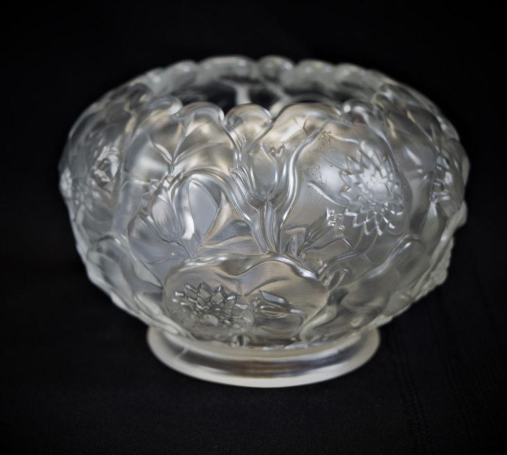 Fenton Satin Crystal Water Lily Rose Bowl With Images Mini Vase Glass Flower Vases Rose Bowl