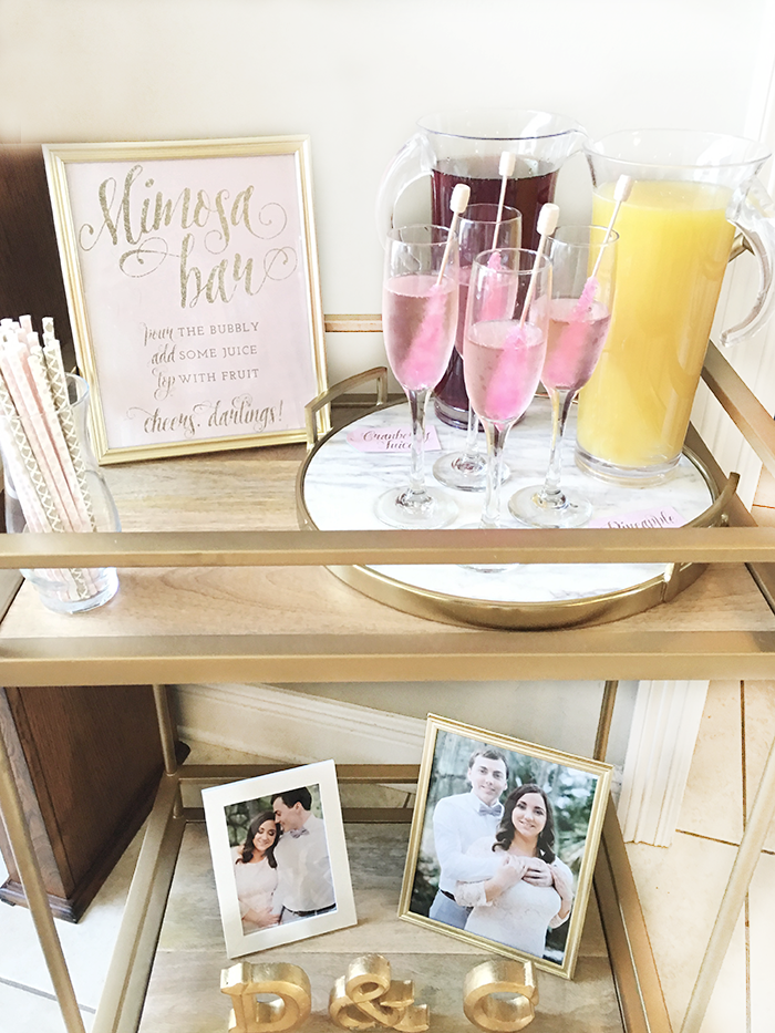 Mimosa Bar Setup Brunch Bubbly Bridal Shower S Ideas The Southern