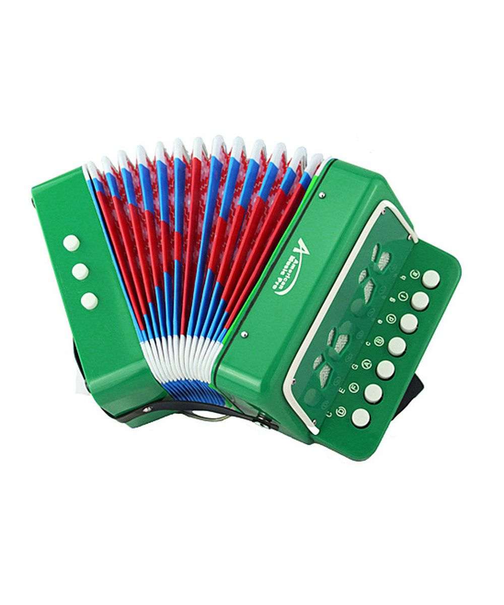 Take a look at this Green Toy Button Accordion on zulily today!