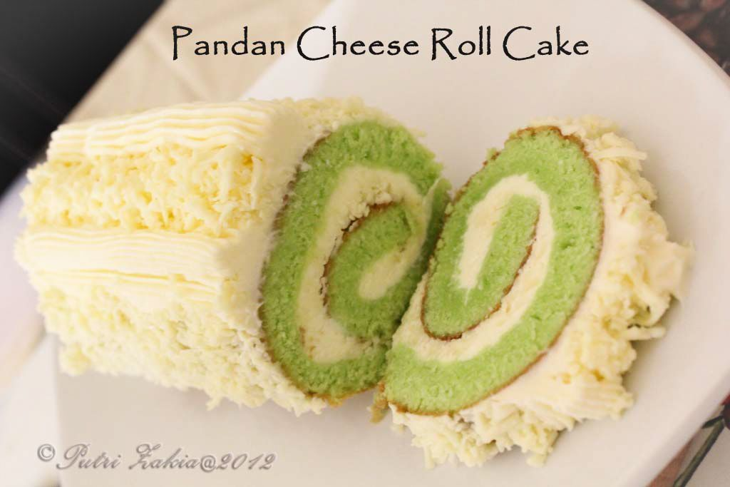 Zakia S Nyameeyummy Pandan Cheese Roll Cake No Bake Blueberry Cheesecake Baking Japanese Roll Cake