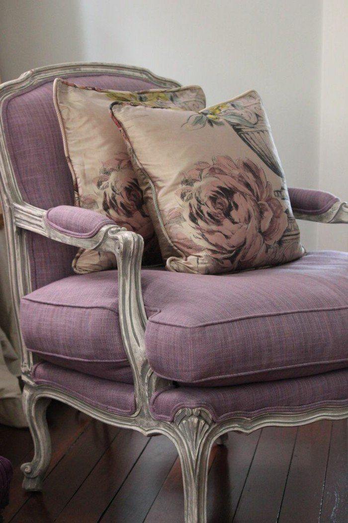 les meubles shabby chic en 40 images d 39 int rieur d cor fauteuil pinterest. Black Bedroom Furniture Sets. Home Design Ideas