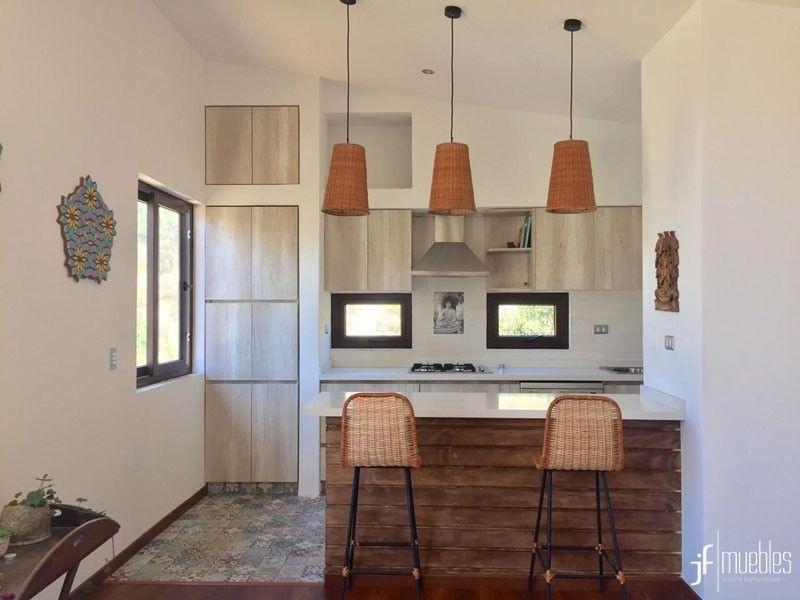 Muebles de cocina en melamina Toscana de 18mm, cubierta en ...