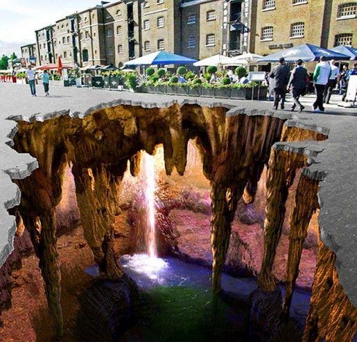 Wenn sich der Abgrund vor dir öffnet – 3 dimensionale Kunst #graffitiart