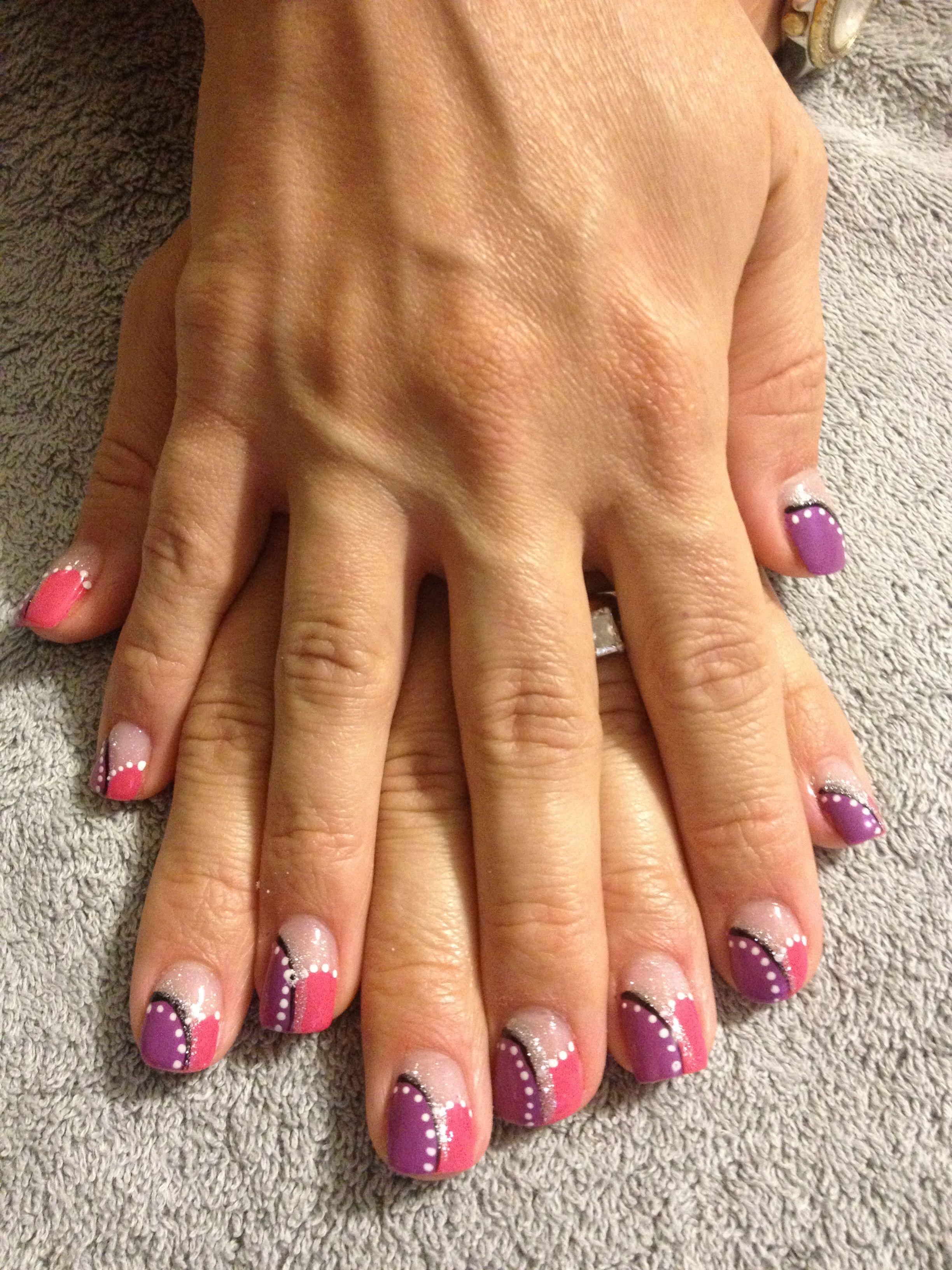 Acrylic overlay nail design | Sara\'s nail designs | Pinterest ...