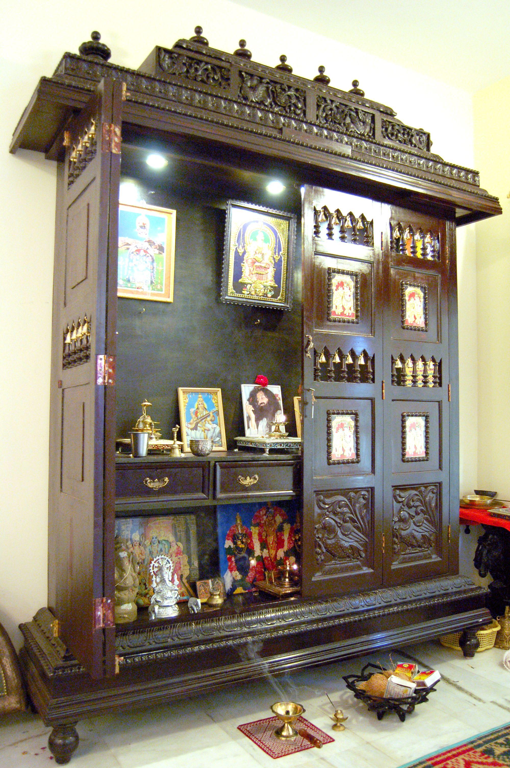 Pooja Room Door Designs With Bells: Pooja Room Door Design, Indian Home Decor