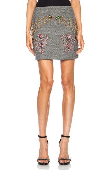 Stella McCartney|Fiona Mini Wool-Blend Skirt in Black [1]