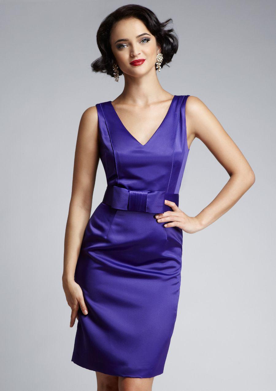 NUE BY SHANI Satin Sheath with Belt $34.99 | Dresses | Pinterest