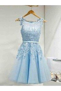 Light Blue Mini Dresses