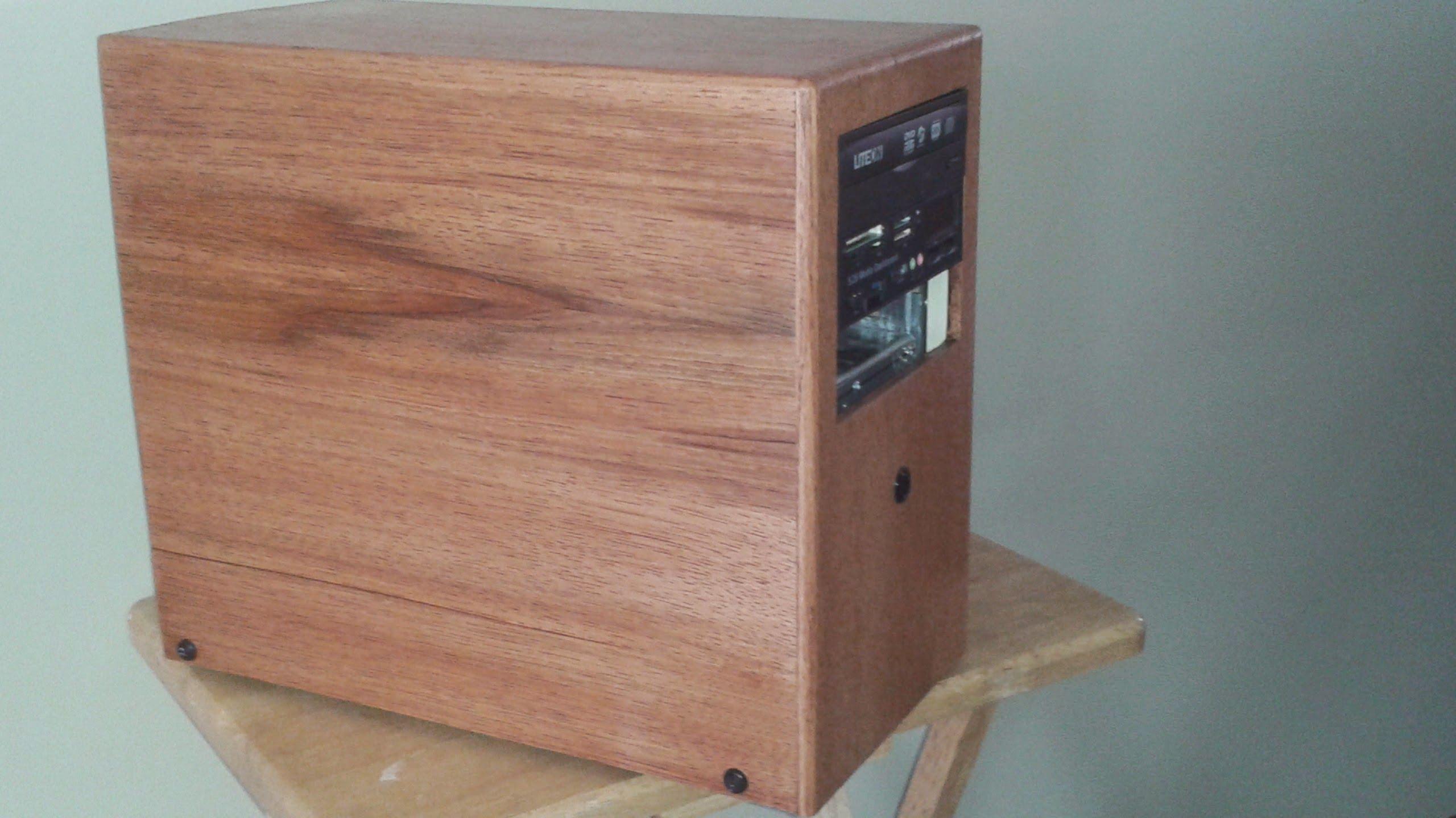 Pallet Wood Computer Case Gabinete Computador Computadores Personalizados Gabinete