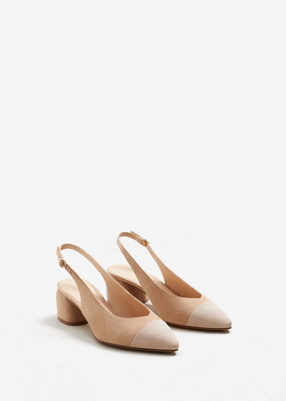 45f0194e08465 Zapato destalonado punta textura - Mujer
