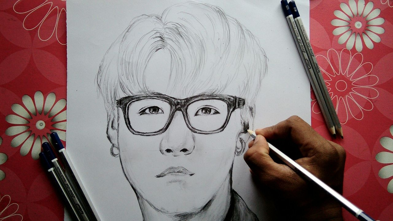 How To Draw Bts Suga Step By Step Tutorial Easy Drawings Bts Fanart Bts Drawings