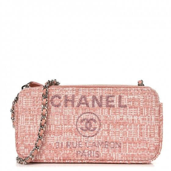 379f48d28aa2 CHANEL Canvas Small Deauville Clutch With Chain Pink | Affiliates ...