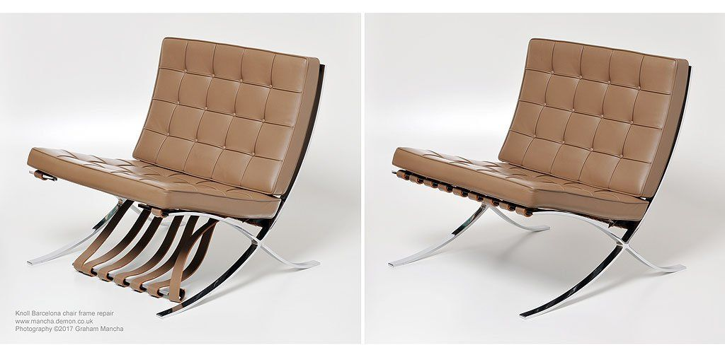 Knoll #Barcelona chair frame #repair by Graham Mancha | Modern ...