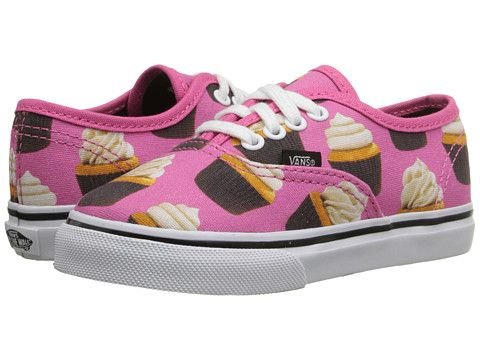 Vans Kids Authentic (Toddler) (Late Night) Hot PinkCupcakes