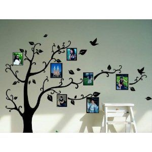 Black Photo Picture Frame Tree Vine Branch Removable Wall Decor Decal Stickers