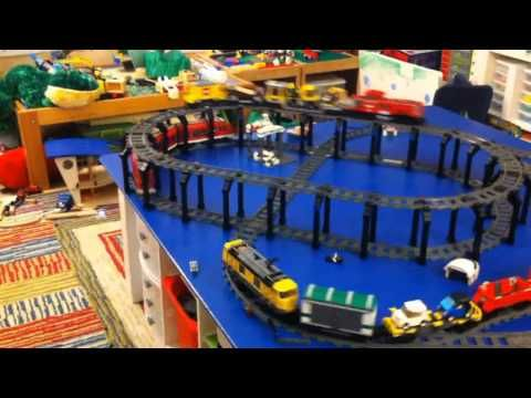 This is a video of the #Lego train set and train table that my hubby ...