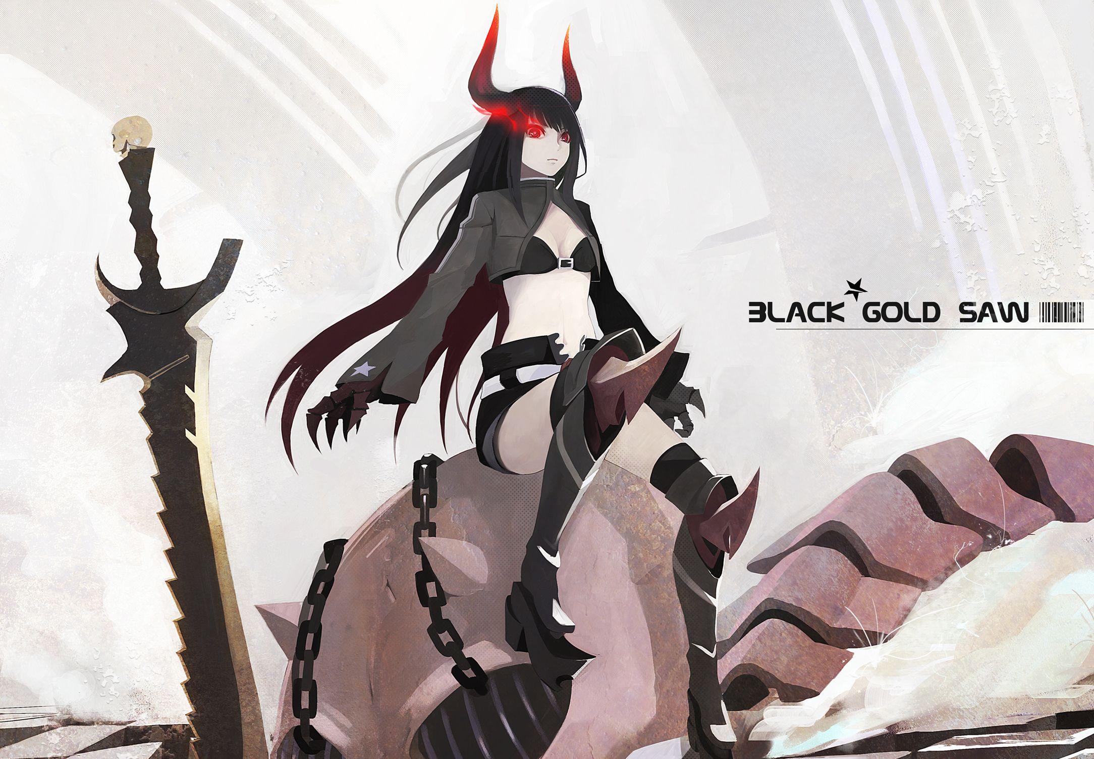 Anime Black Rock Shooter Black Gold Saw Wallpaper