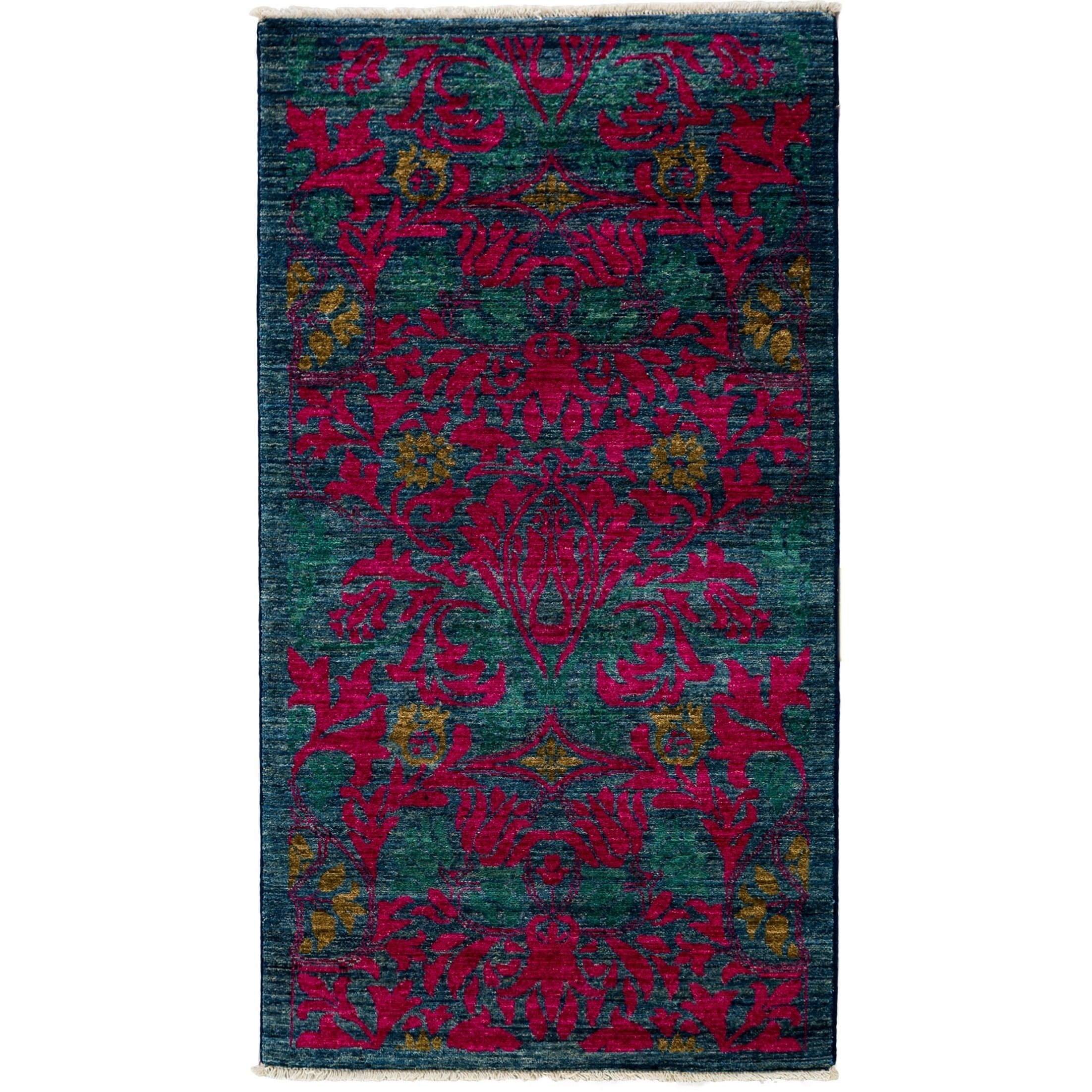 "Kananayem Hand Knotted Area Rug (2'10"" X 5'3"") (Pink - 2'10"" X 5'3""), Size 3' x 5' (Wool, Oriental)"