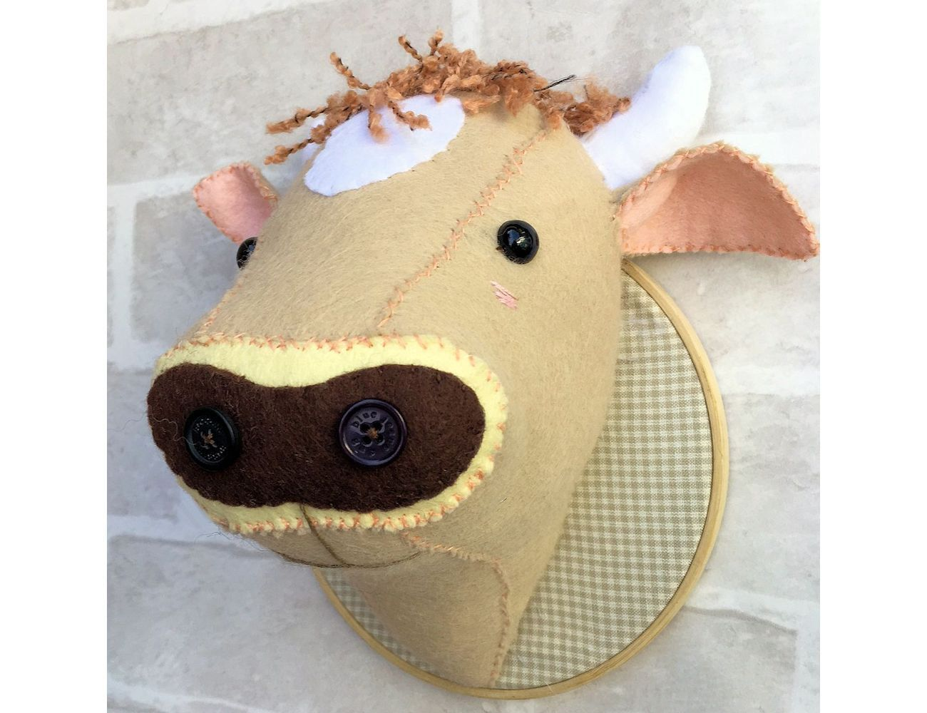 Faux Taxidermy Jersey Cow Head pattern pdf file instant | taxidermy ...
