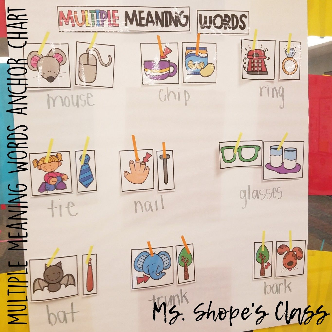 Multiple Meaning Words For Kindergarten Ccss L K 4 A
