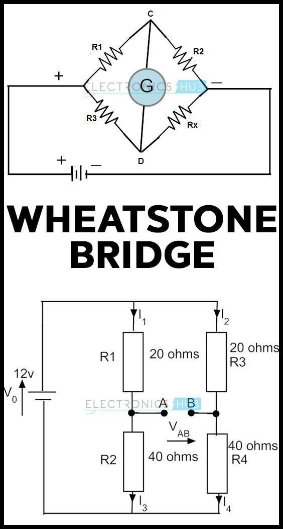 Wheatstone Bridge Circuit Theory, Example and Applications ...