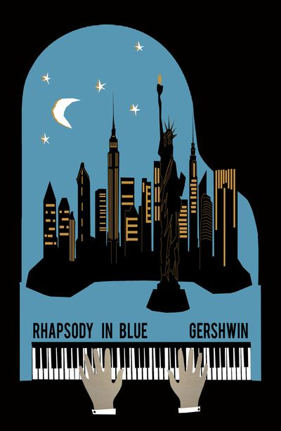 Rhapsody in Blue - Gershwin Art Print by Prelude Posters | Music poster,  Jazz poster, Gershwin