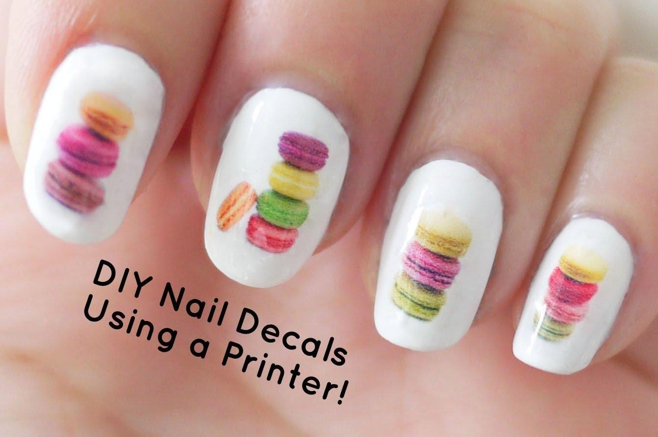 DIY Nails Art : DIY Nail Art Decals Using a Printer - Video ...