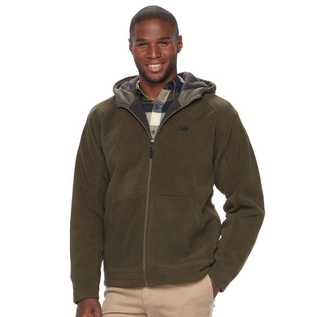 205004c954de7 Big & Tall New Balance Sherpa-Lined Polar Fleece Hooded Jacket, Men's,  Size: Xl Tall, Green