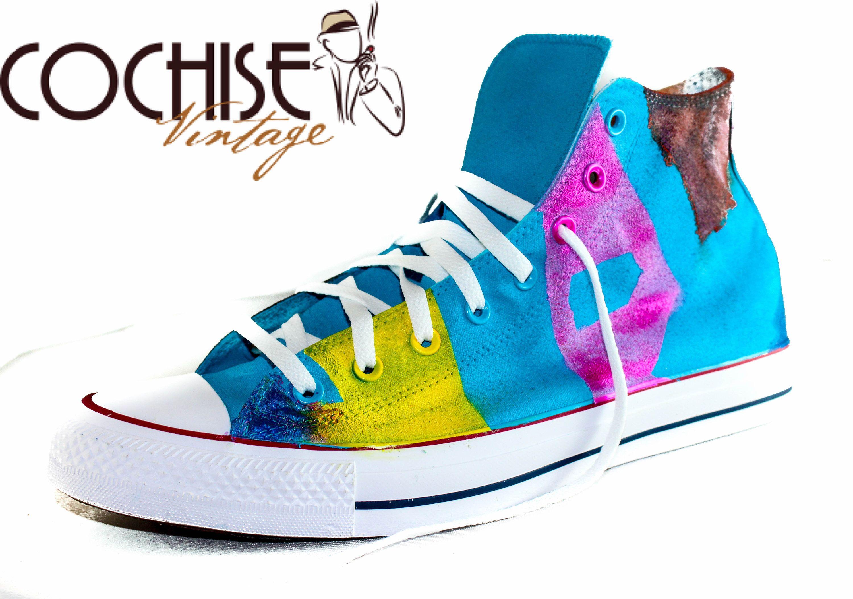 61839d2388737 Abstract Custom AirBrush Converse Chuck Taylors All Stars Chuck ...