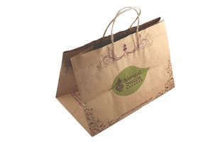 """Buy Brown Kraft Paper Bags of 115 GSM (12"""" x 8"""" x 7"""") online from Wrapper India and other Manufacturers Suppliers Exporters 