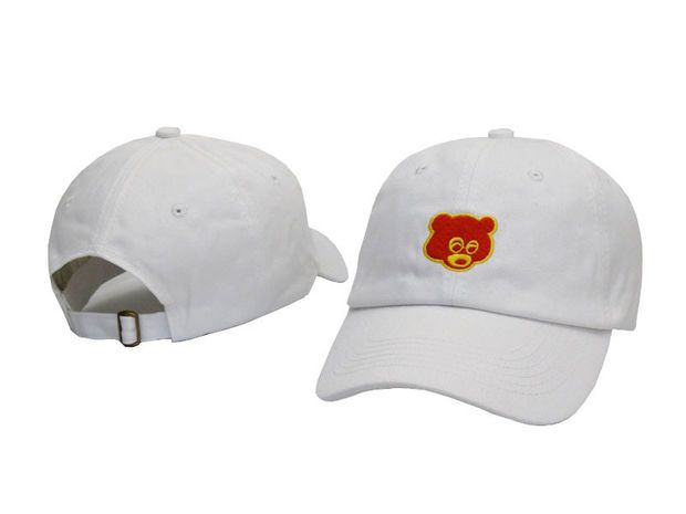ef18bc30a81b9 Kanye West The College Dropout Bear White Yeezus Yeezy Strapback Baseball  Fitted Trucker Cap Hat