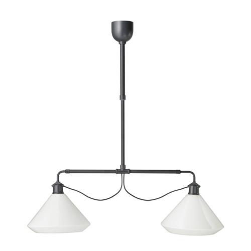 IKEA - ÄLVÄNGEN, Taklampe dobbel, , Denne lampen gir et behagelig lys til måltider og sprer et godt oppgaverettet lys over hele spise- eller barbordet.Siden avstanden mellom lampene kan justeres, kan du for eksempel henge dem opp for å passe bordets lengde.Høyden kan tilpasses etter dine belysningsbehov.