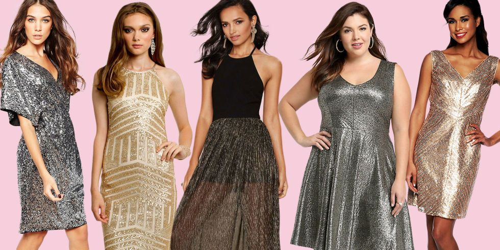 NYE Dresses -  50 Sparkly Dresses Perfect for New Year's Eve - Get festive without looking like a disco ball.