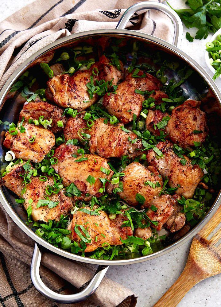 This Boneless Chicken Thigh Recipe Makes Super Tender Succulent And Very Flav Boneless Chicken Thigh Recipes Chicken Thights Recipes Chicken Recipes Boneless