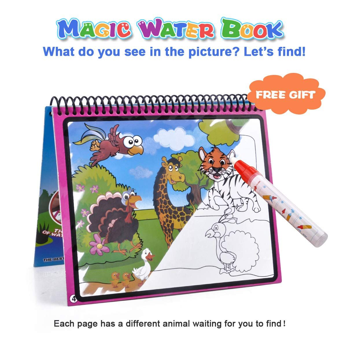 Meland Large Water Doodle Mat Aqua Doodle Mat 39 37 X 27 5 Inch With 4 Water Pens And 8 Molds And A Wate Kids Coloring Books Toddler Gifts Christmas Gifts Toys