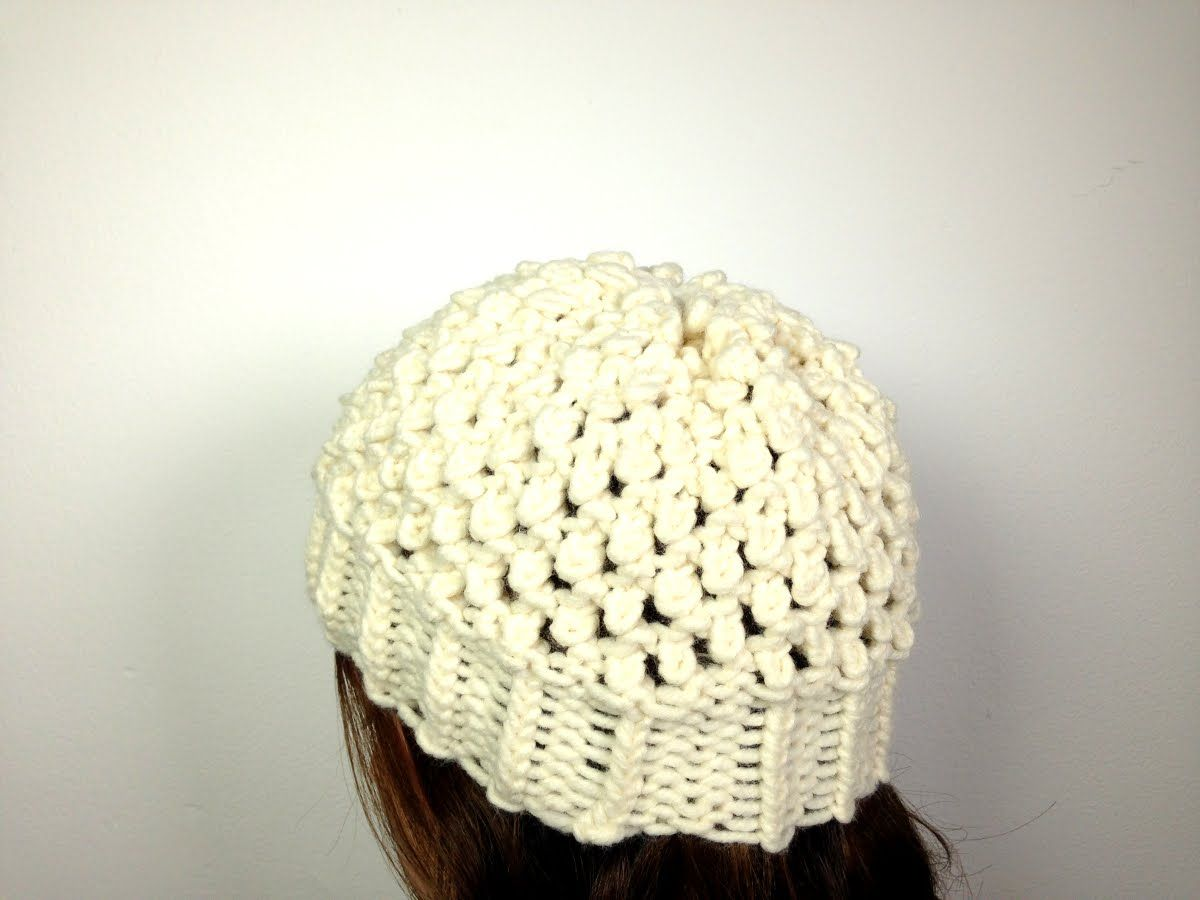 How to Loom Knit a Popcorn Hat (DIY Tutorial) | Looming Lover ...