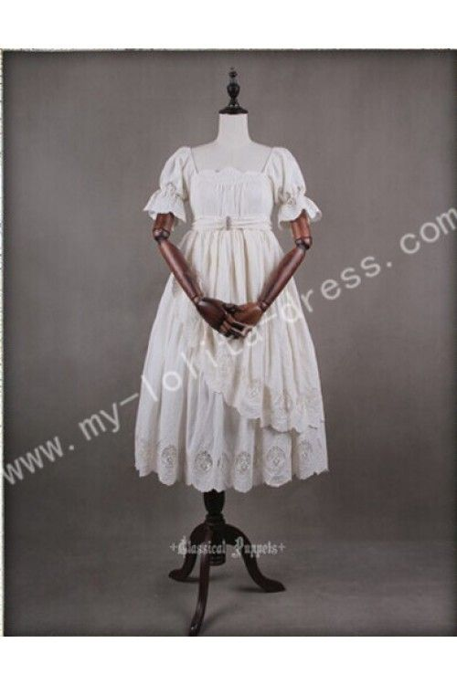 Classic Puppets Romantic Lolita Middle Long OP Dress.  $82.99.  Also available in Brown.