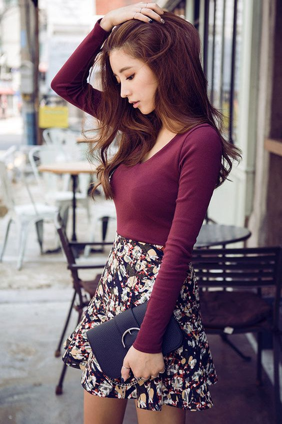 7c48aafa0 15 Ideas and Combination Of Skater Skirt Outfits | Outfits ...