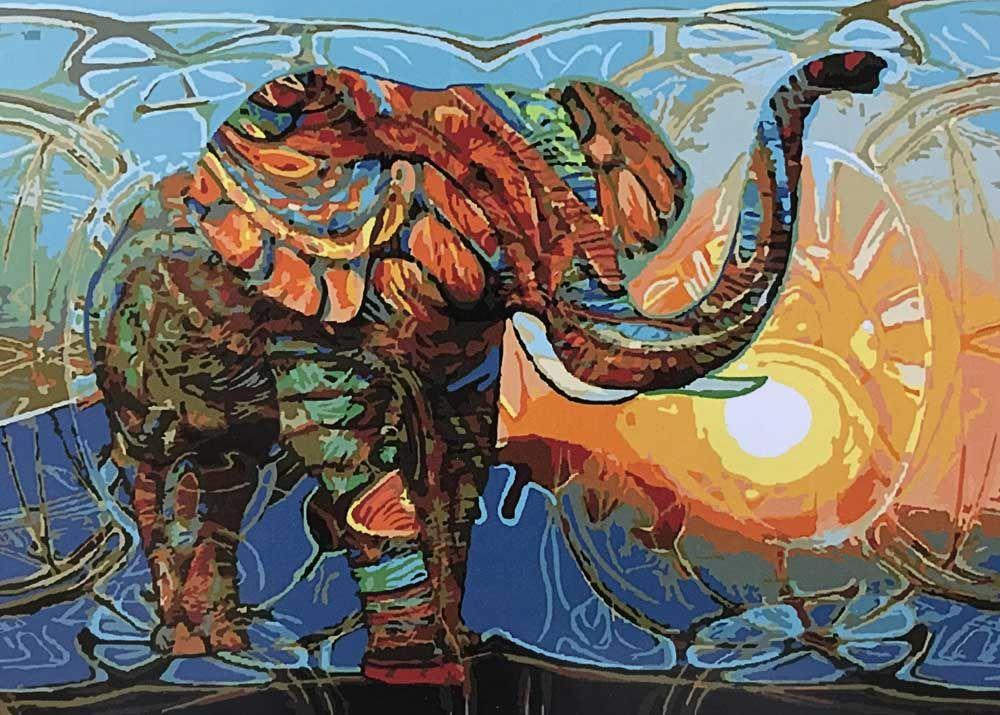 Картина по номерам «Слон» | Рисунки со слонами ...