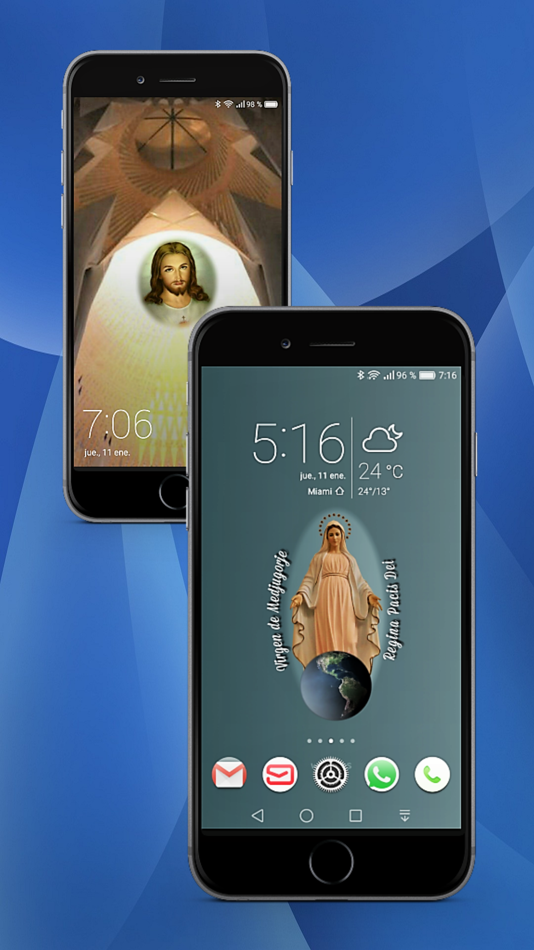 Catholic apps Android All in e Bible Gospel & Saints of the