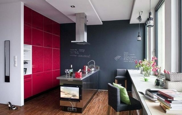 Quelle couleur cuisine choisir – 55 idées magnifiques | Murs gris ...